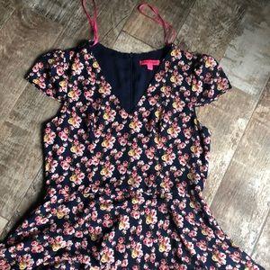 Betsey Johnson vintage feel floral dress